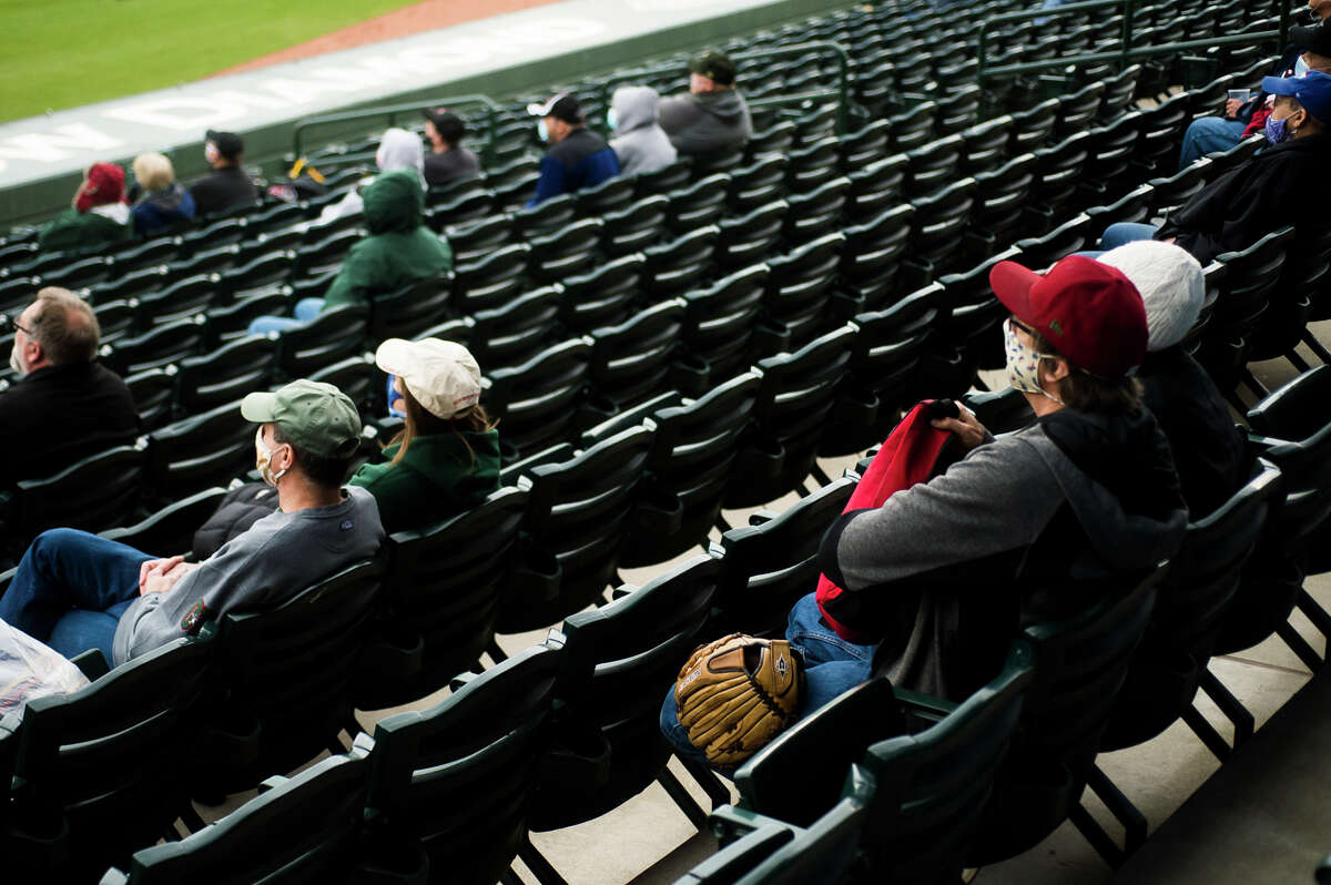 Fans return to Dow Diamond for the Great Lakes Loons' opening day game against Dayton Tuesday, May 4, 2021 in Midland. (Katy Kildee/kkildee@mdn.net)