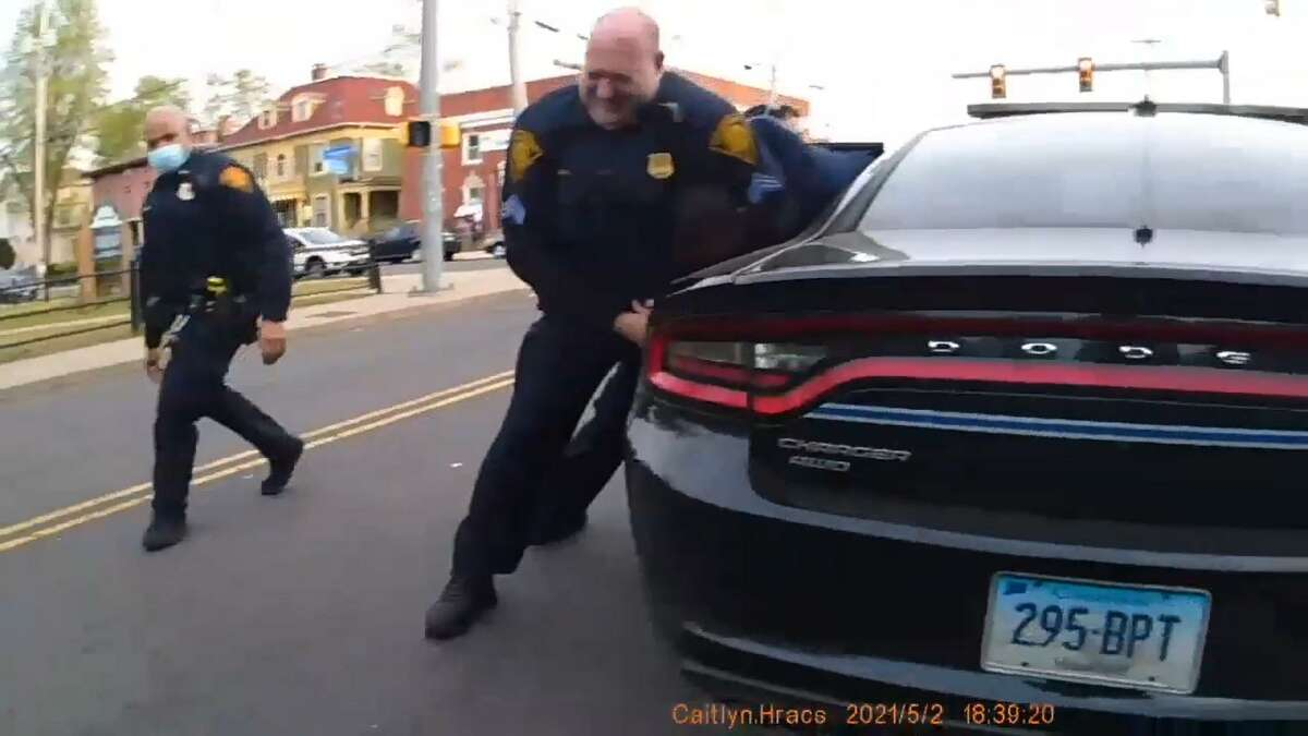 BRIDGEPORT - Body camera footage released in the arrest of 34-year-old Kevin Thomas by city police officers on Sunday, May 2, 2021.