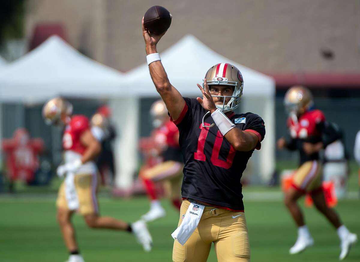Jimmy Garoppolo had seven touchdowns and five interceptions before an ankle injury sidelined him for eight games in 2020.