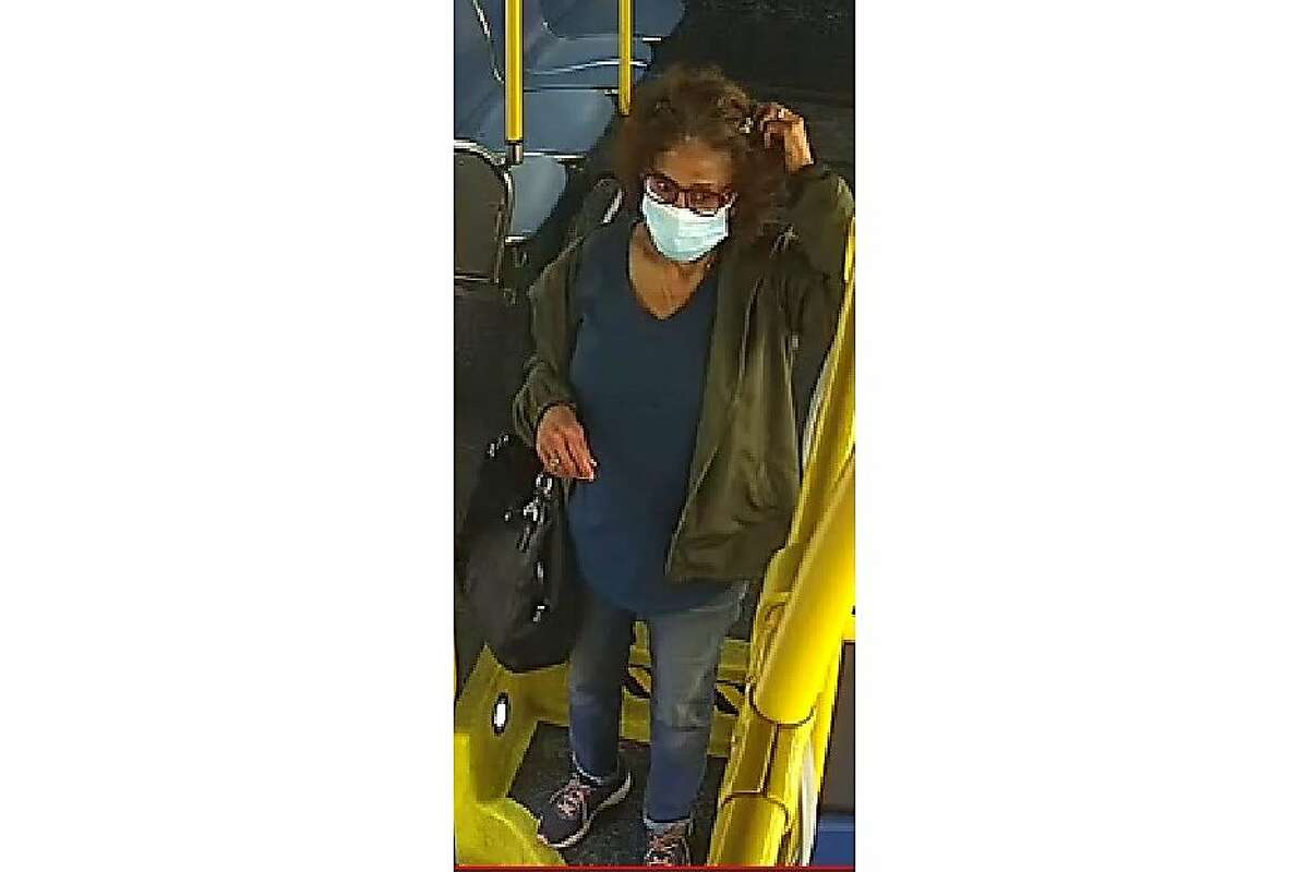 San Francisco police are asking the public's help in finding a woman whose hair was set ablaze in an aggravated assault on Sunday afternoon aboard a #5 Fulton Street bus. The victim, pictured in this photo provided by the San Francisco Police Department, had her hair set on fire by another passenger.
