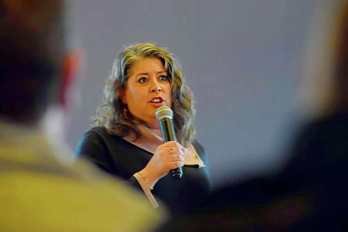 In this 2020 file photo, Desiree Bennyhoff, President and CEO of the Edwardsville/Glen Carbon Chamber of Commerce, notes the emerging struggles for local business owners across all industries as COVID-19 surged.