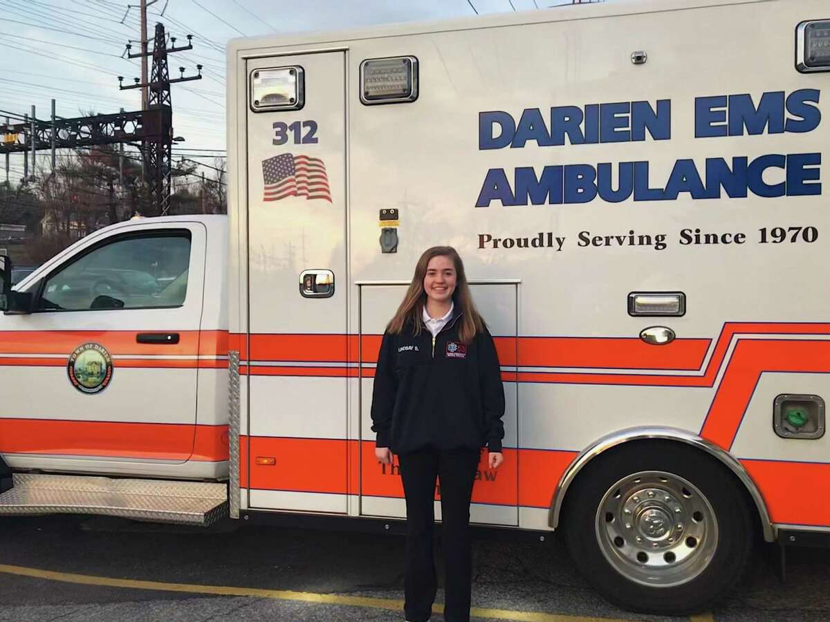 Darien EMS Post 53 volunteer and Darien High senior Lindsay Smith was recently awarded Claes Nobel Future Female Leader Scholarship by the National Society of High School Scholars to help her further her medical career in college.