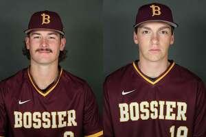 Bossier Parish Community College baseball players Cole Ketzner (left) and Daniel Shafer (right).
