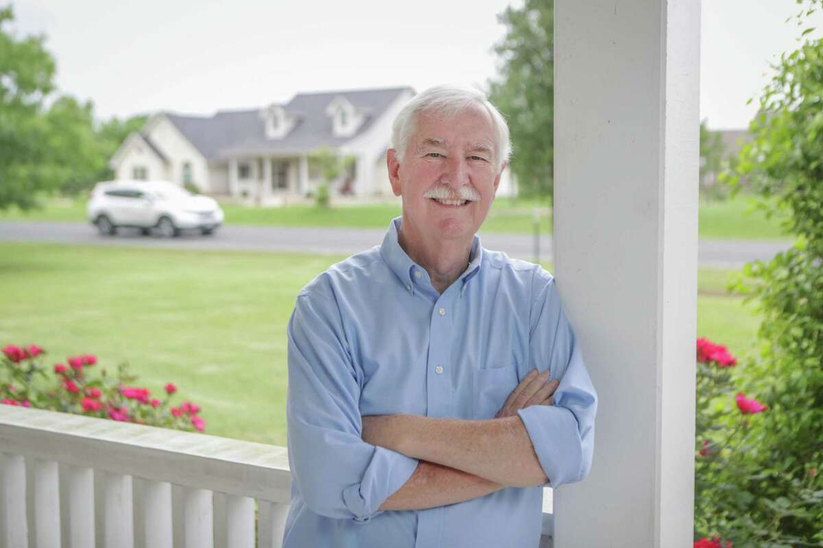 Dr. Jim Gaines, economist at the Texas Real Estate Research Center at Texas A&M University poses for a photo at his home Thursday, April 29, 2021, in College Station.