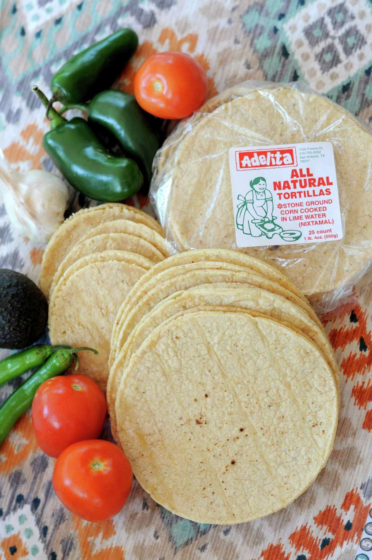 White corn tortillas from Adelita Tamales & Tortilla Factory