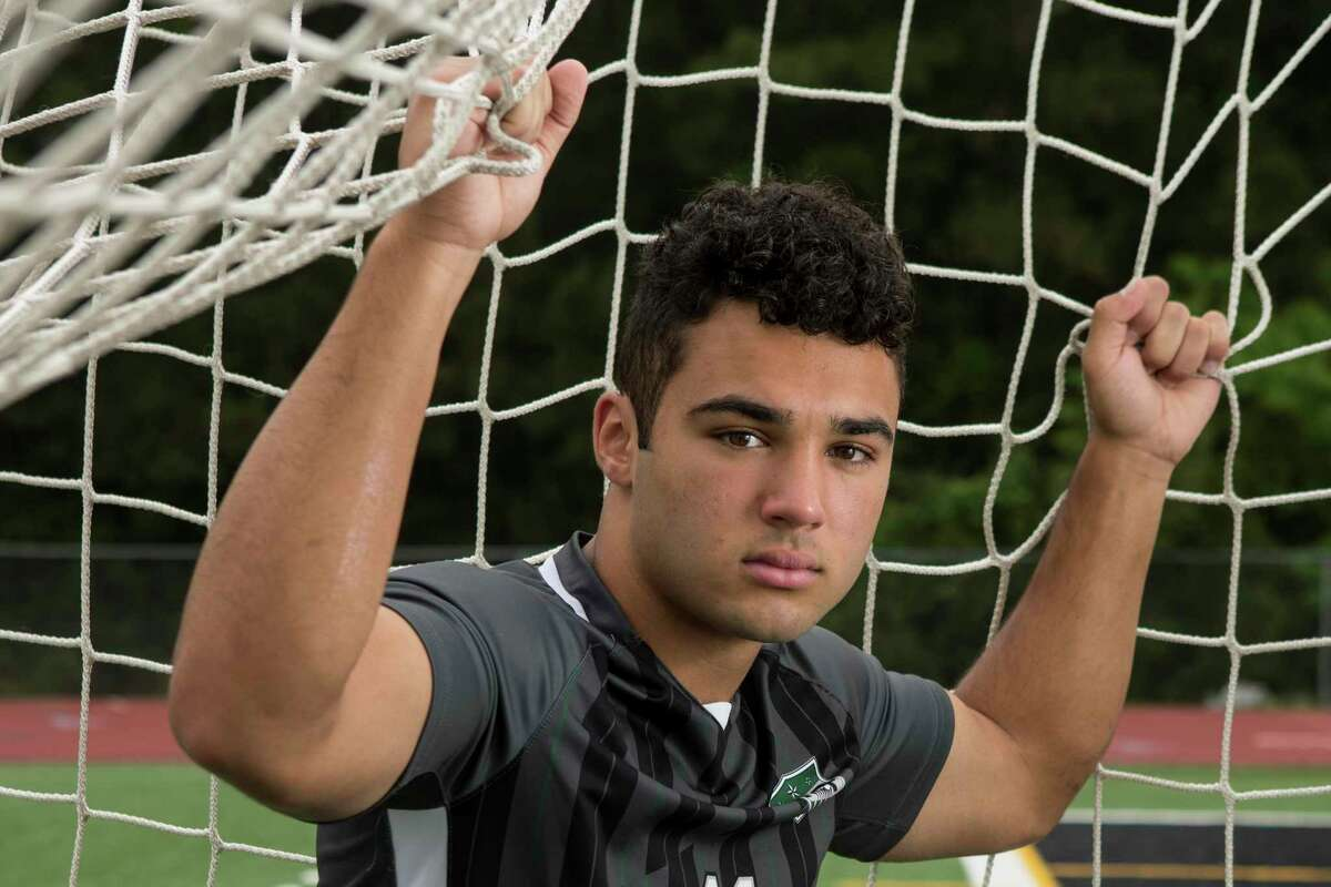 Kingwood Park's Gage Guerra poses for a portrait Wednesday, April 28, 2021 in Kingwood. Guerra is the Houston Chronicle's All-Greater Houston boys soccer player of the year.