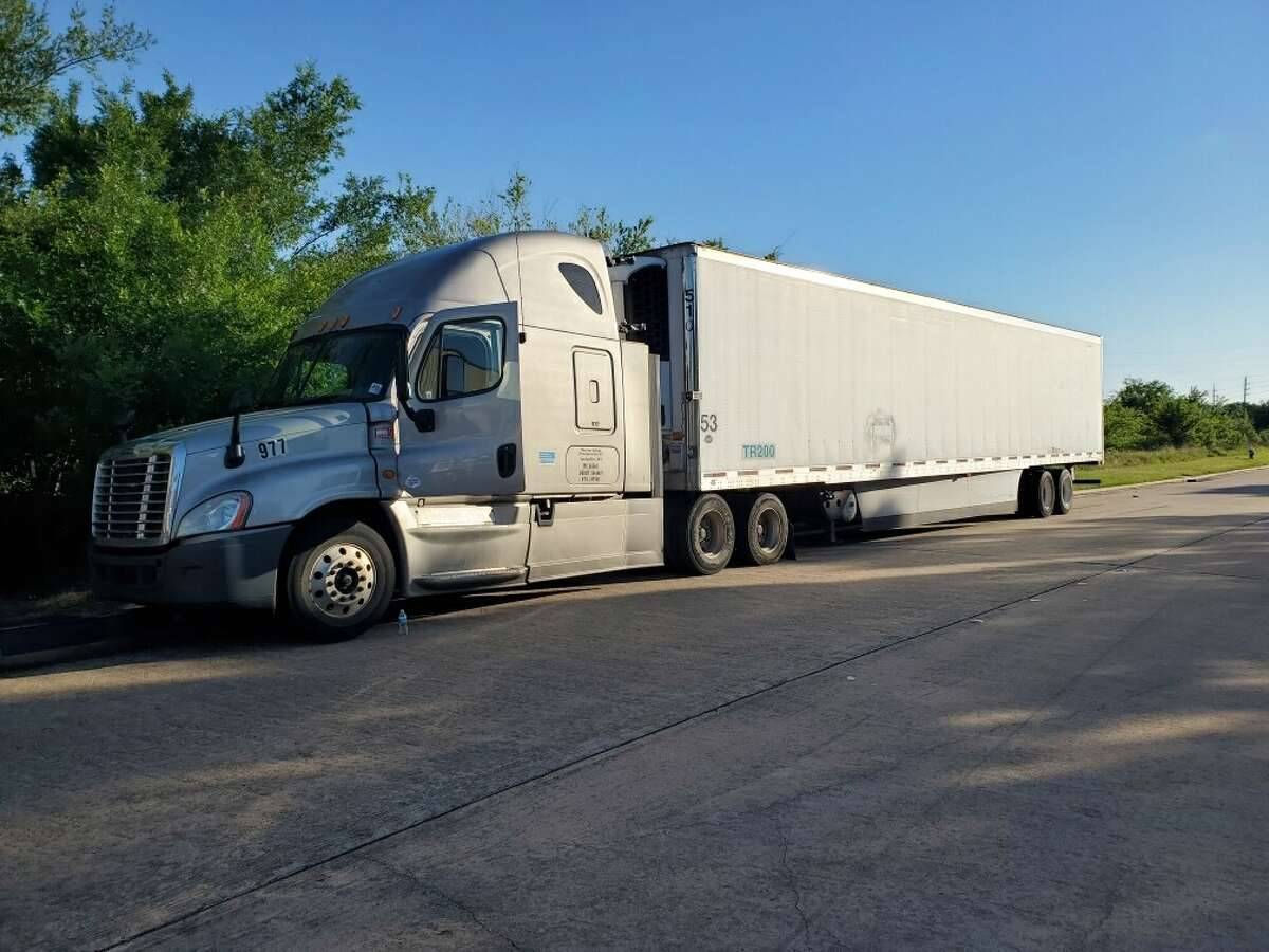 Migrants were discovered in a tractor-trailer in Katy on Wednesday, authorities said.