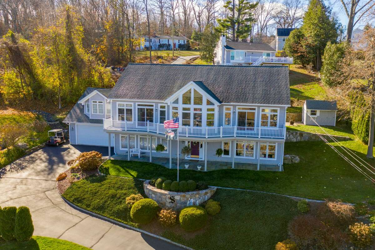 The house at 15 Shore Road in Danbury is on the market for $849,900.