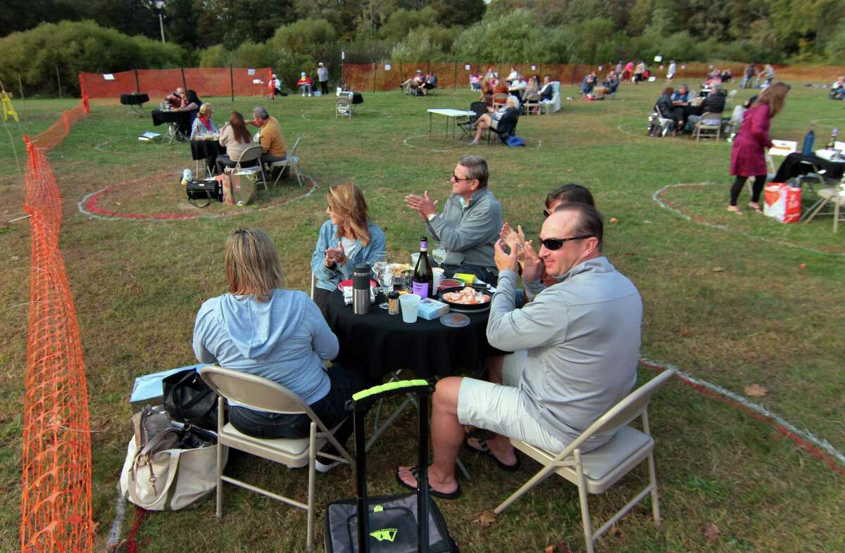 Milford Arts Council (MAC) holds its MAC Musicfest fundraiser at Eisenhower Park in Milford, Conn., on Saturday Oct. 10, 2020.
