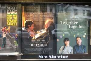 Movie poster outside of the Landmark Spectrum 8 Theatres in Albany on Sunday, May 2, 2021 (Gary Hahn \ Times Union)