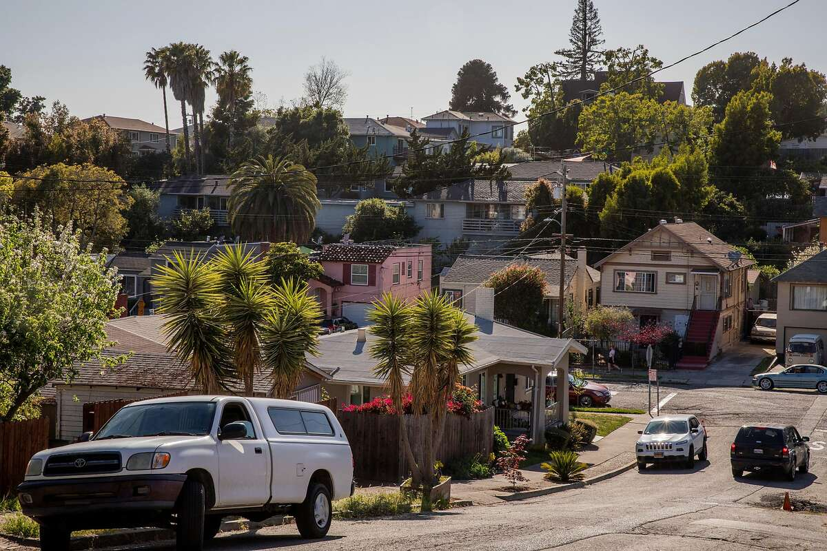 The Reservoir Hill neighborhood seen from E 28th Street, Tuesday, May 4, 2021, in Oakland, Calif.
