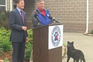 Senator Richard Blumenthal visited the Connecticut Humane Society in Newington on May 5, 2021 to speak out against pet fraud and call for more penalties against it.