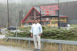 Local businessman Muhammed Ahmad is renovating the iconic A-frame at the entrance to Frontier Town in the Adirondacks.