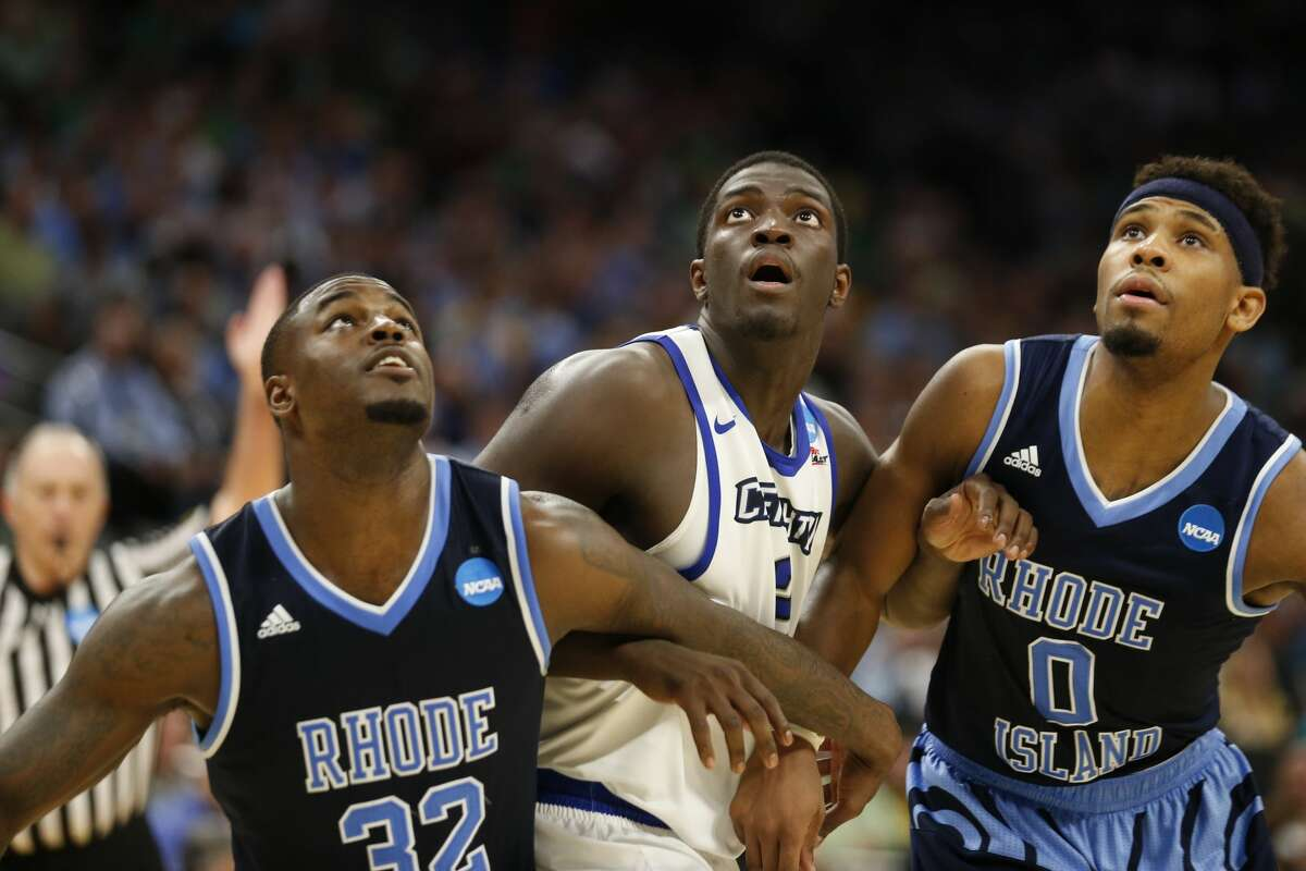 The Rockets are close to signing free-agent guard KhyriThomas (center), a 6-3 guard out of Creighton.