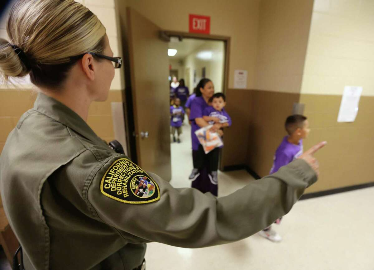 Family members of inmates visit Folsom Women's Facility in Folsom Calif. in 2014.