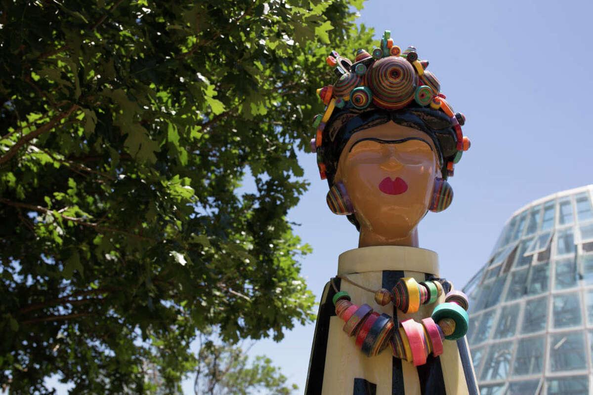 A sneak peek of the Frida Kahlo Oasis at San Antonio Botanical Garden.