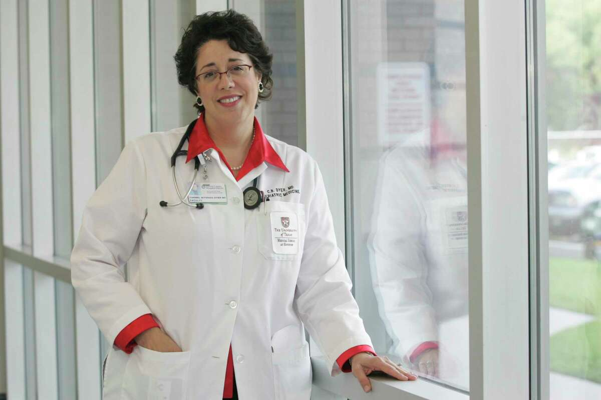Dr. Carmel Dyer, Chief of Geriatrics at Lyndon B. Johnson Hospital and Director of the Division of Geriatric and Palliative Medicine at The University of Texas Medical School at Houston. Thursday, July 31, 2008, in Houston. ( Leonardo Carrizo / Chronicle )