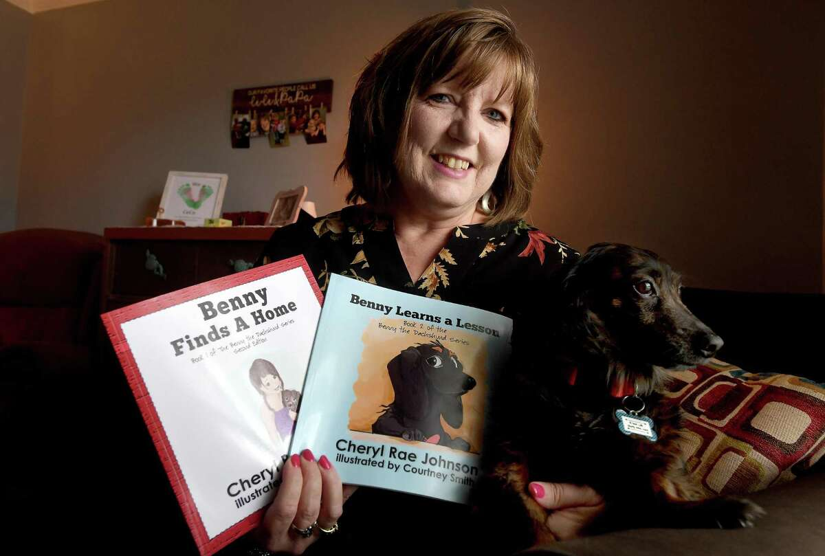 Lamar University English and writing professor Cheryl Johnson recently published her second children's book, based on her family's dog Bentley. Photo made Thursday, April 29, 2021 Kim Brent/The Enterprise