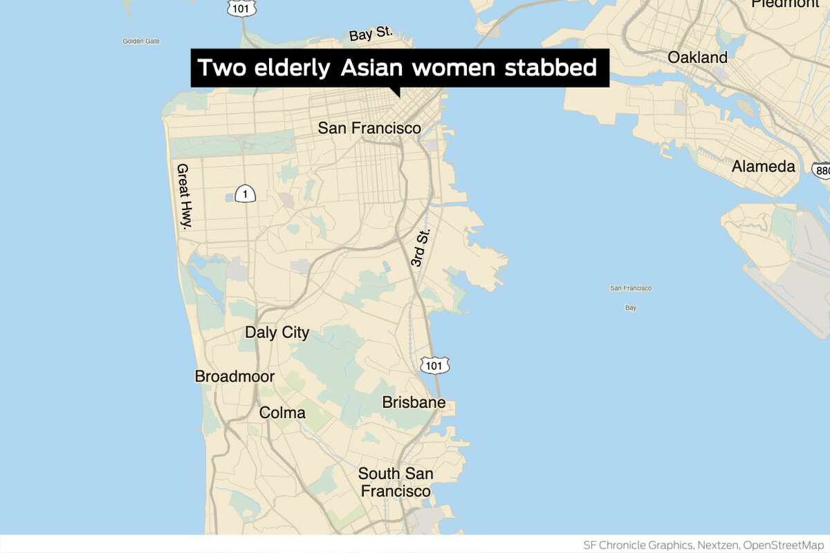 The man accused of stabbing two Asian women Tuesday evening in San Francisco was previously charged with assault with a deadly weapon in 2017, according to court records reviewed by The Chronicle.
