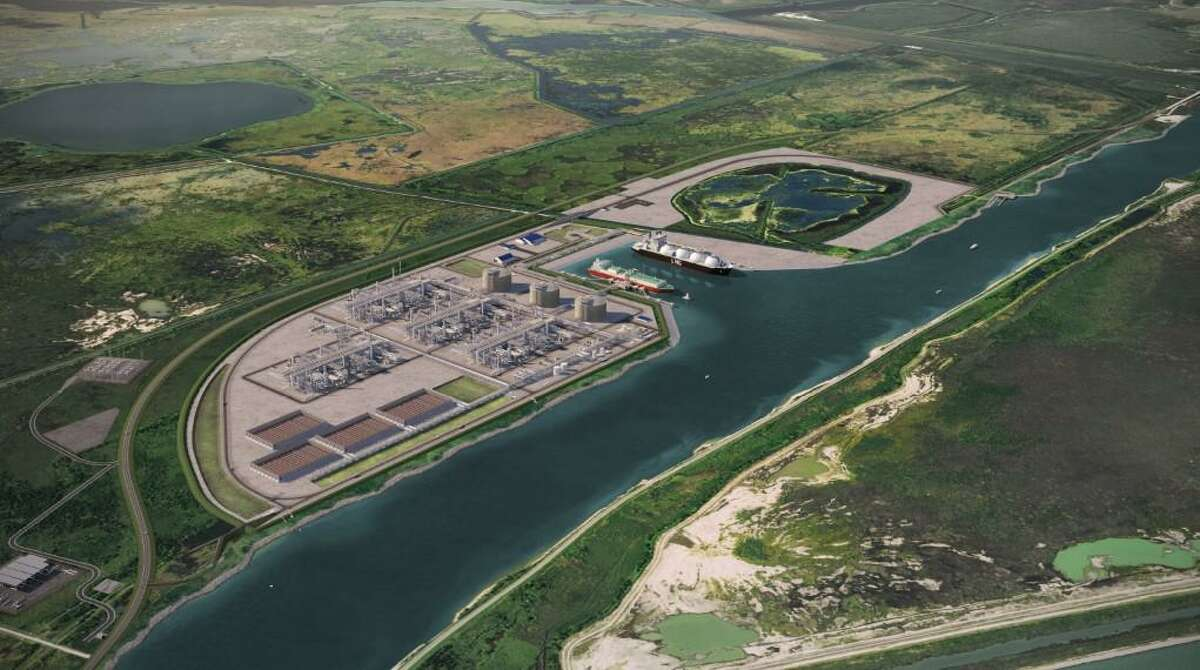 Sempra Port Arthur LNG plant.