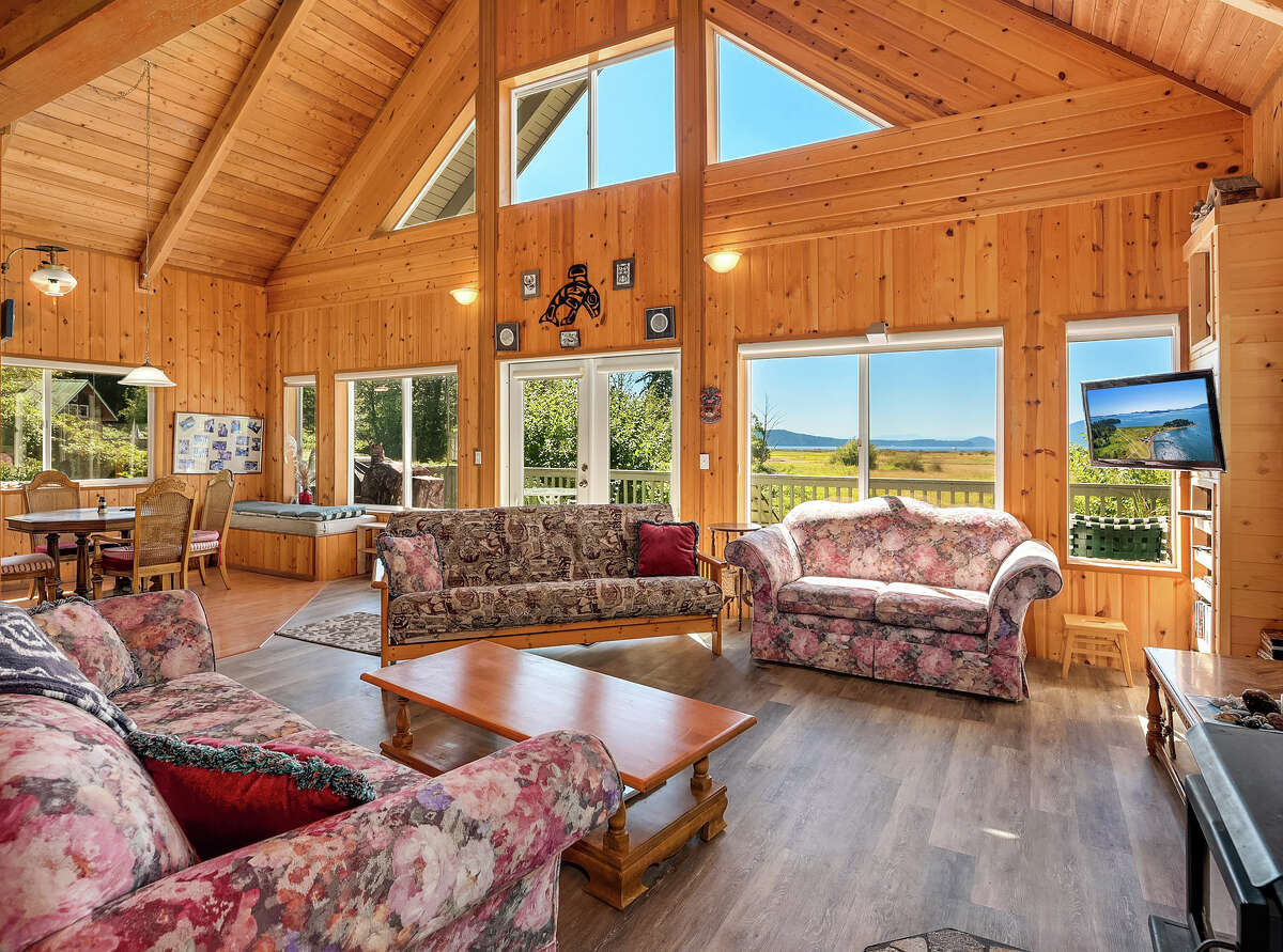 Inside, the high ceilings and windows you want to capture views and light.