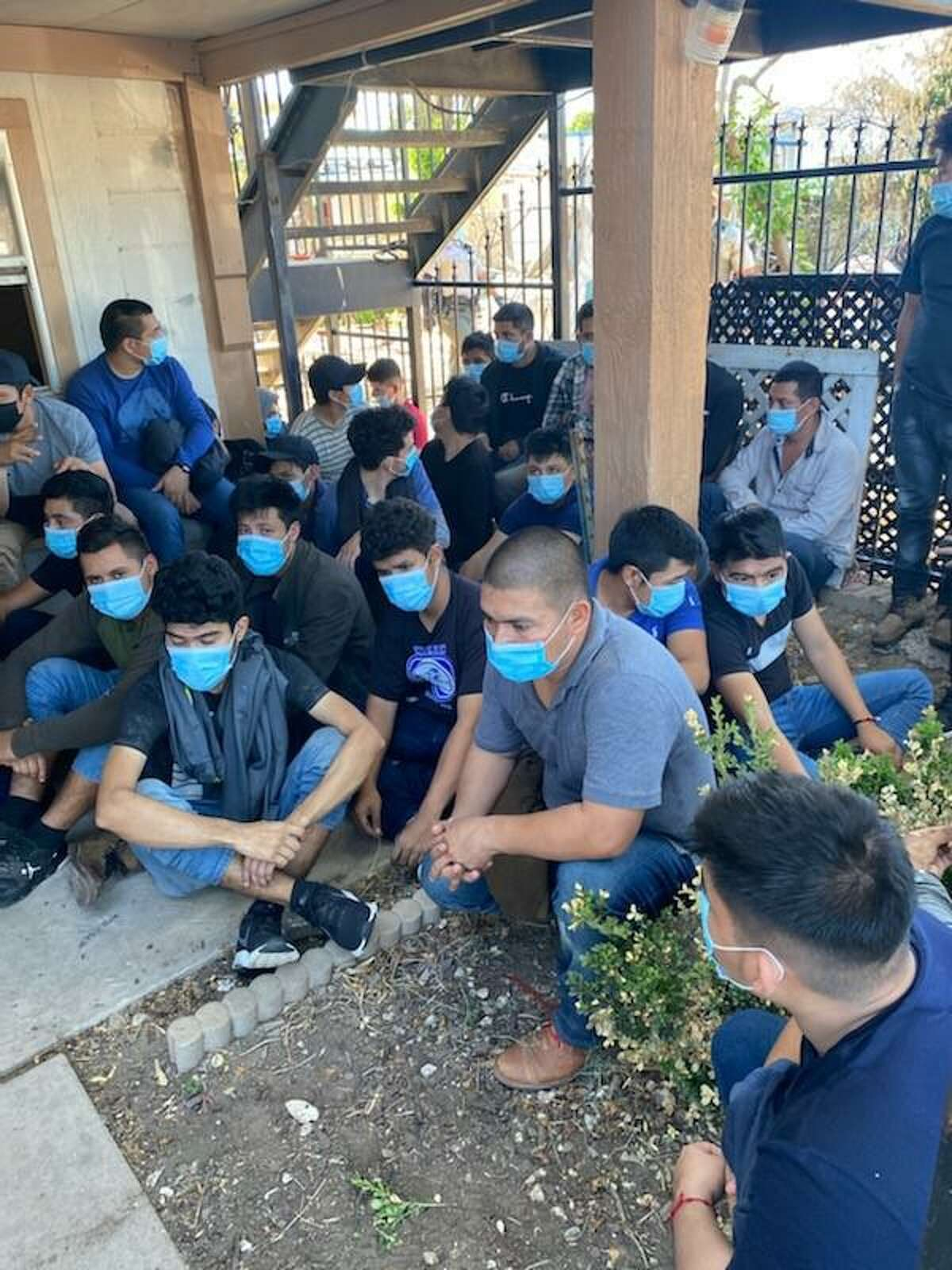 The Webb County Sheriff's Office said they discovered 76 people inside a stash house that was in poor conditions. The individuals were determined to be migrants who had crossed the border illegally.