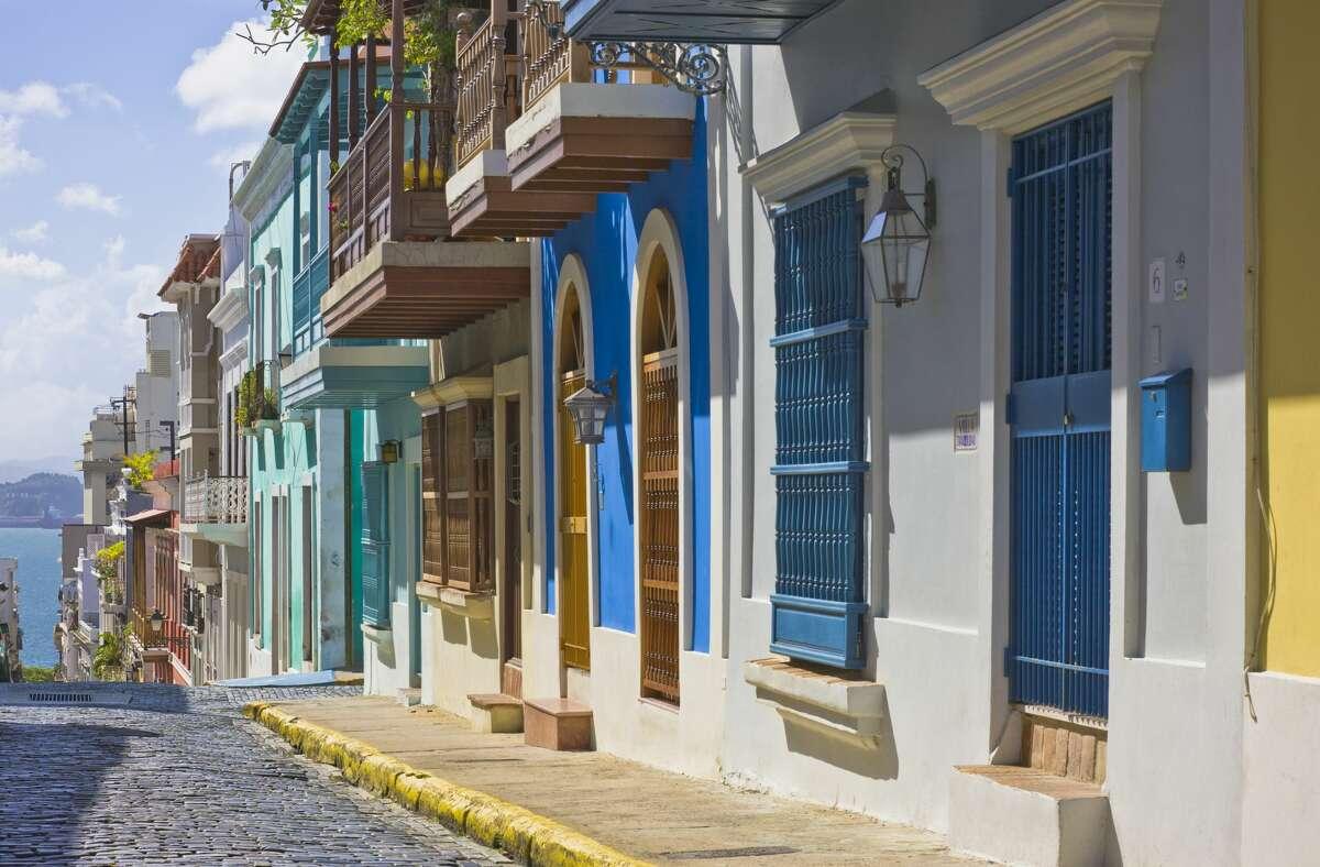 Calle San Justo (San Justo Street), Old San Juan, Puerto Rico