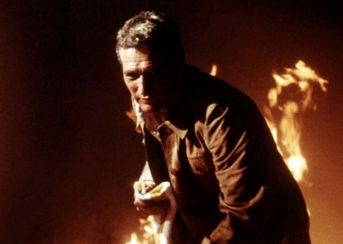 The Towering Inferno (1974) - Where to watch: Amazon Prime - Director: John Guillermin - IMDb user rating: 7.0 - Metascore: 69 - Runtime: 165 minutes A fire breaks out at a party to celebrate the opening of a poorly constructed new highrise in this 1970s action thriller. The film features a star-studded cast that includes Steve McQueen, Paul Newman, William Holden, Faye Dunaway, Fred Astaire, Robert Wagner, and O.J. Simpson. McQueen did his own stunt jumping from a helicopter onto the burning building.