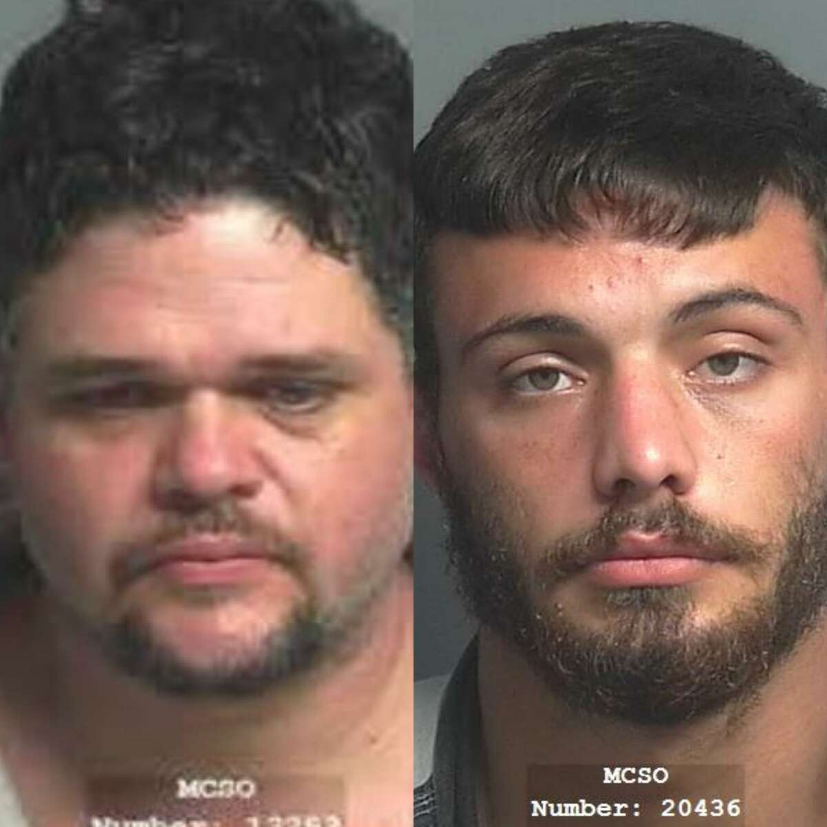 Chase Matthew Reese, 24, and Noe Antonio Saenz, 40, both of Conroe, are charged each with theft, a third-degree felony. Saenz also is charged with theft of property, a state jail felony, and possession of a prohibited weapon, a third-degree felony,