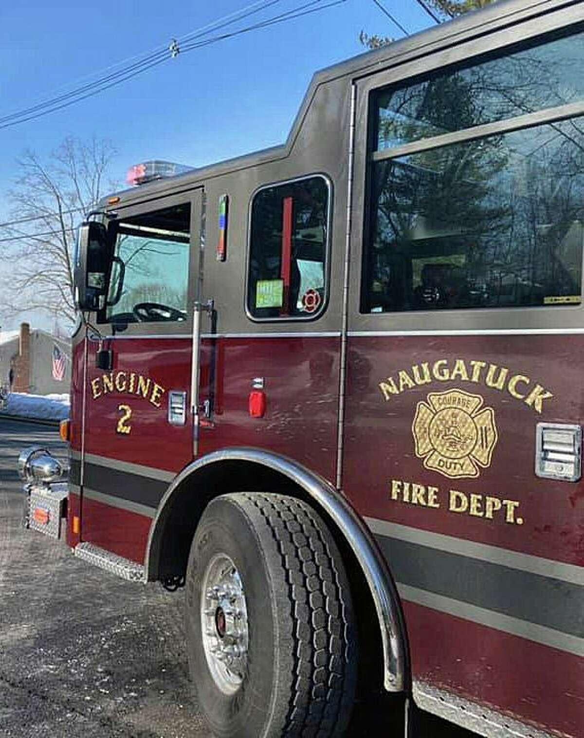 A file photo of a Naugatuck, Conn., fire engine.