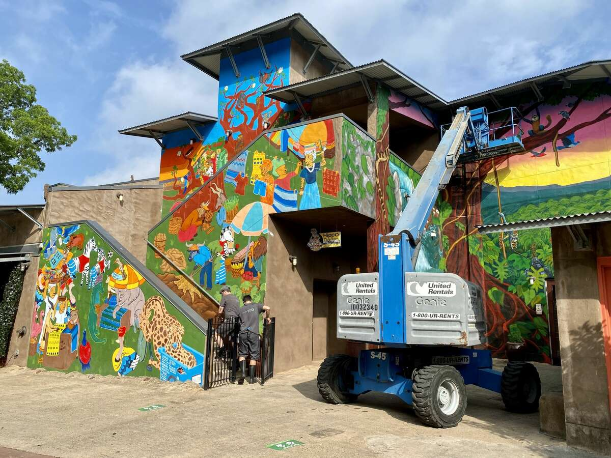 The second phase of the Africa Live! mural is now complete. Check it out at the San Antonio Zoo.