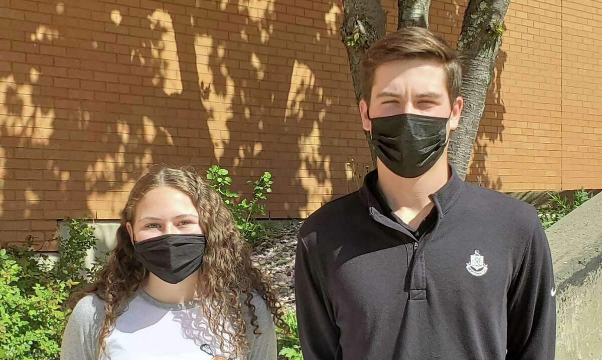 Samantha Rago and Kyle St. Pierre are Shelton High's SCC Scholar Athletes for the spring season.