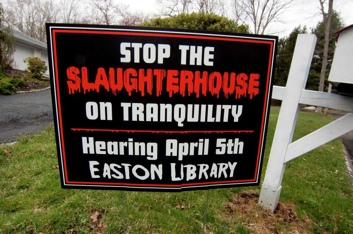 Neighbors on Tranquility Drive are fighting a proposed commercial chicken coop and slaughterhouse in their neighborhood in Easton.