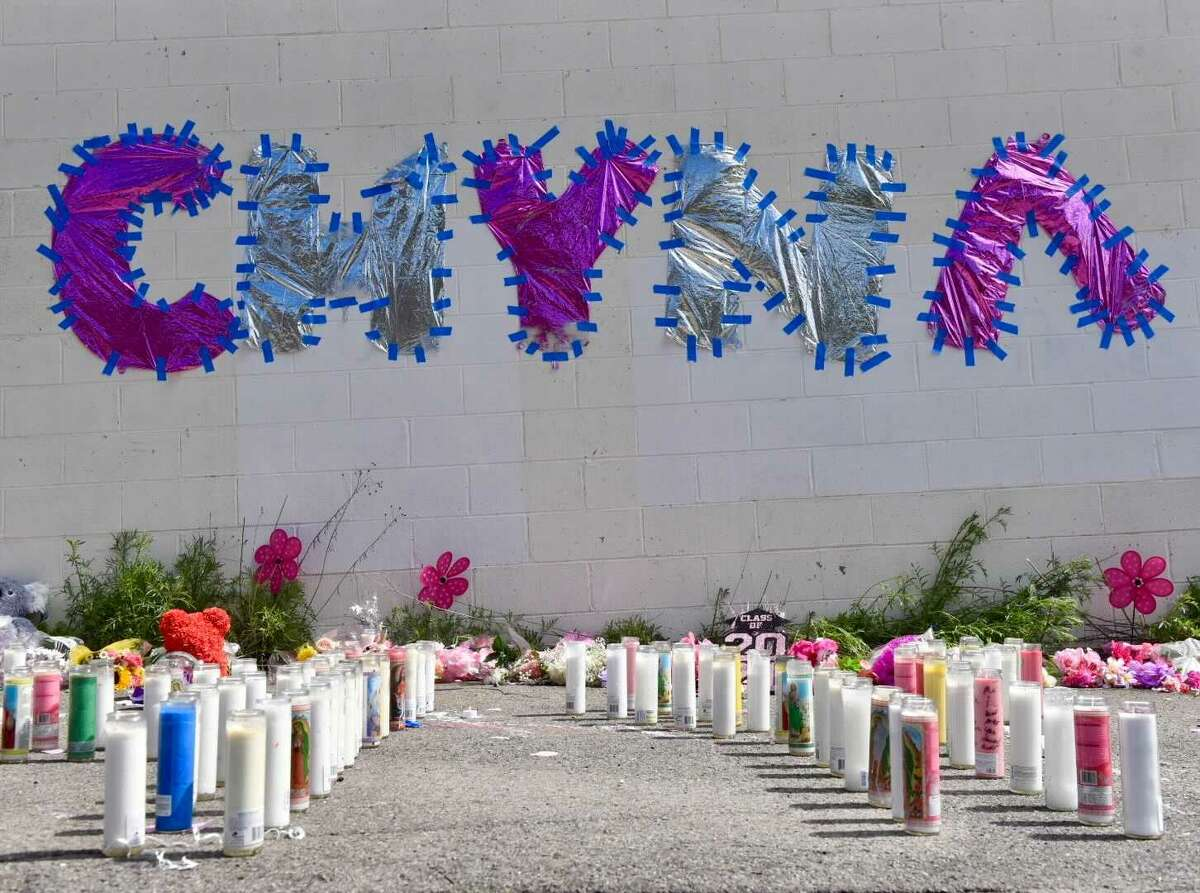 Scenes from the memorial friends and loved ones have created on Essex Street in Albany for Chyna Forney, 18, who was shot on the street Monday, May 3, 2021. Police, as of May 6, 2021, had revealed few details about what happened.