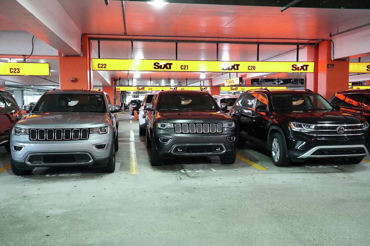 Cars are parked in the Sixt Rent a Car parking lot at Fort Lauderdale-Hollywood International Airport on Friday, April 16, 2021. (John McCall/South Florida Sun Sentinel/TNS)