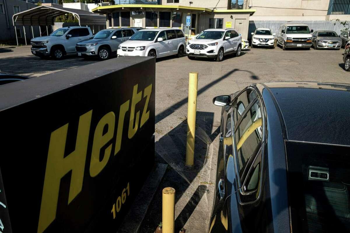A Hertz rental location in Berkeley, Calif., on May 5, 2020. MUST CREDIT: Bloomberg photo by David Paul Morris.