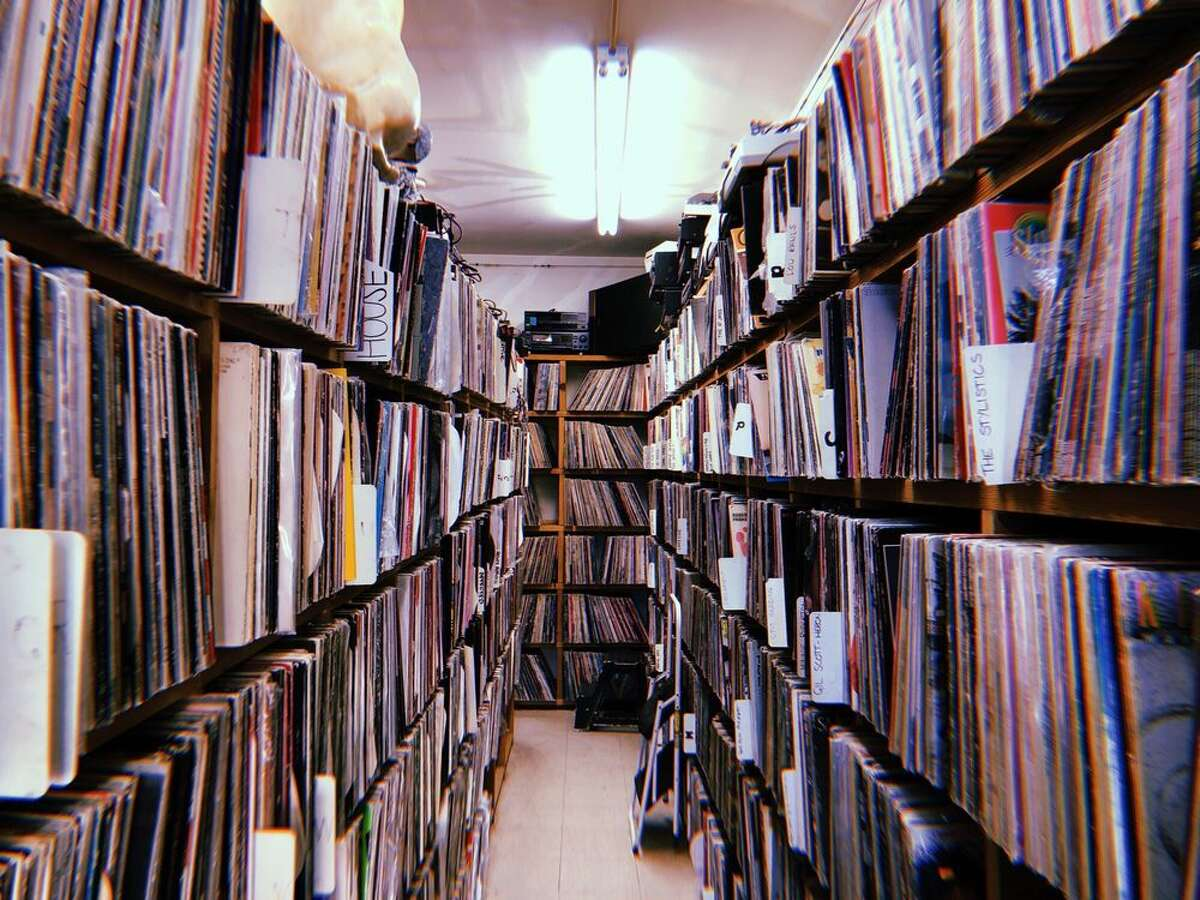 An interior shot of the Record Man in Redwood City.
