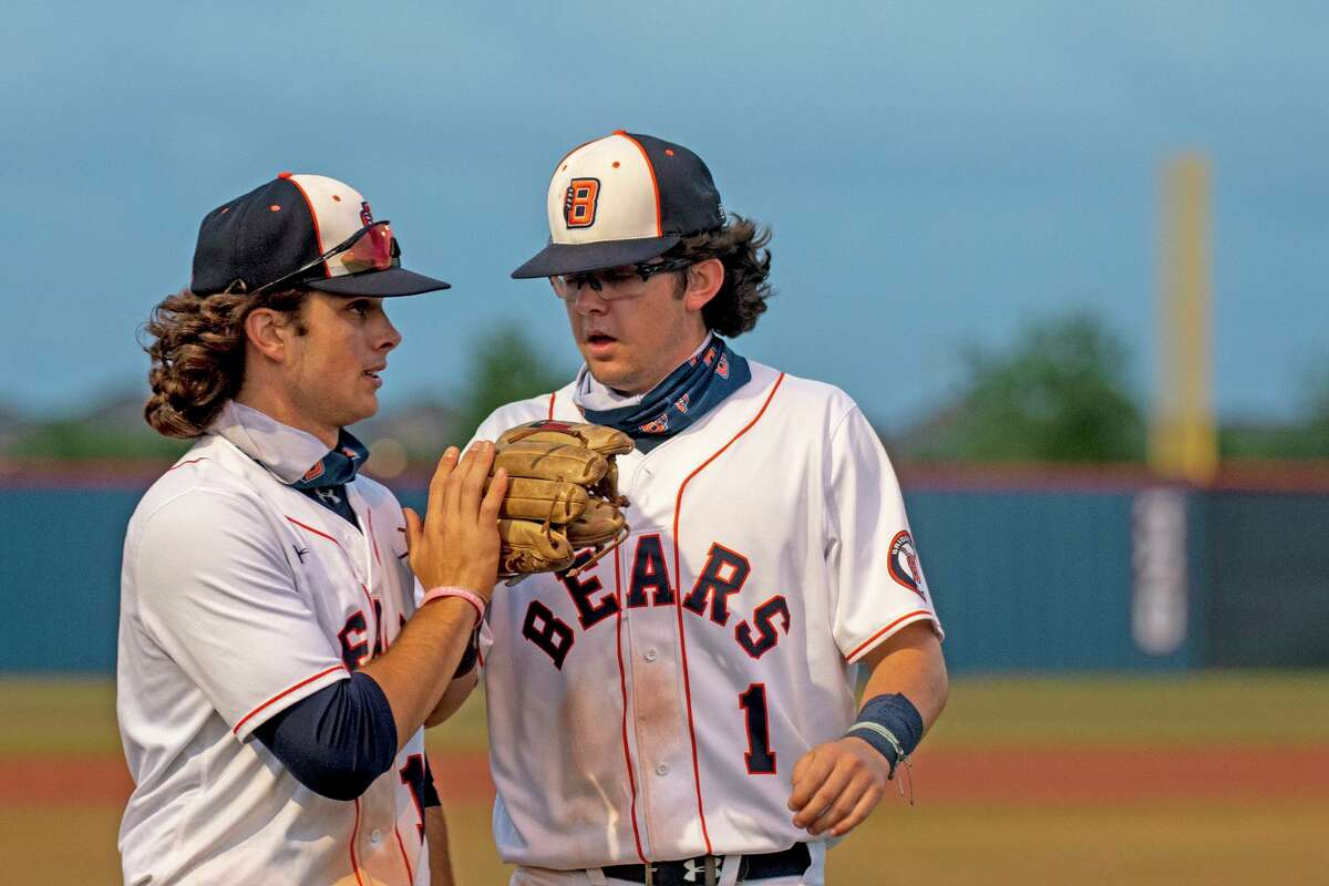 Bridgeland seniors Tripp Cromer (left) and Zach Griffin (right). The Bears claimed the District 16-6A Championship and are heading to the playoffs. They are scheduled to play Klein Cain in a best-of-three series starting May 7.