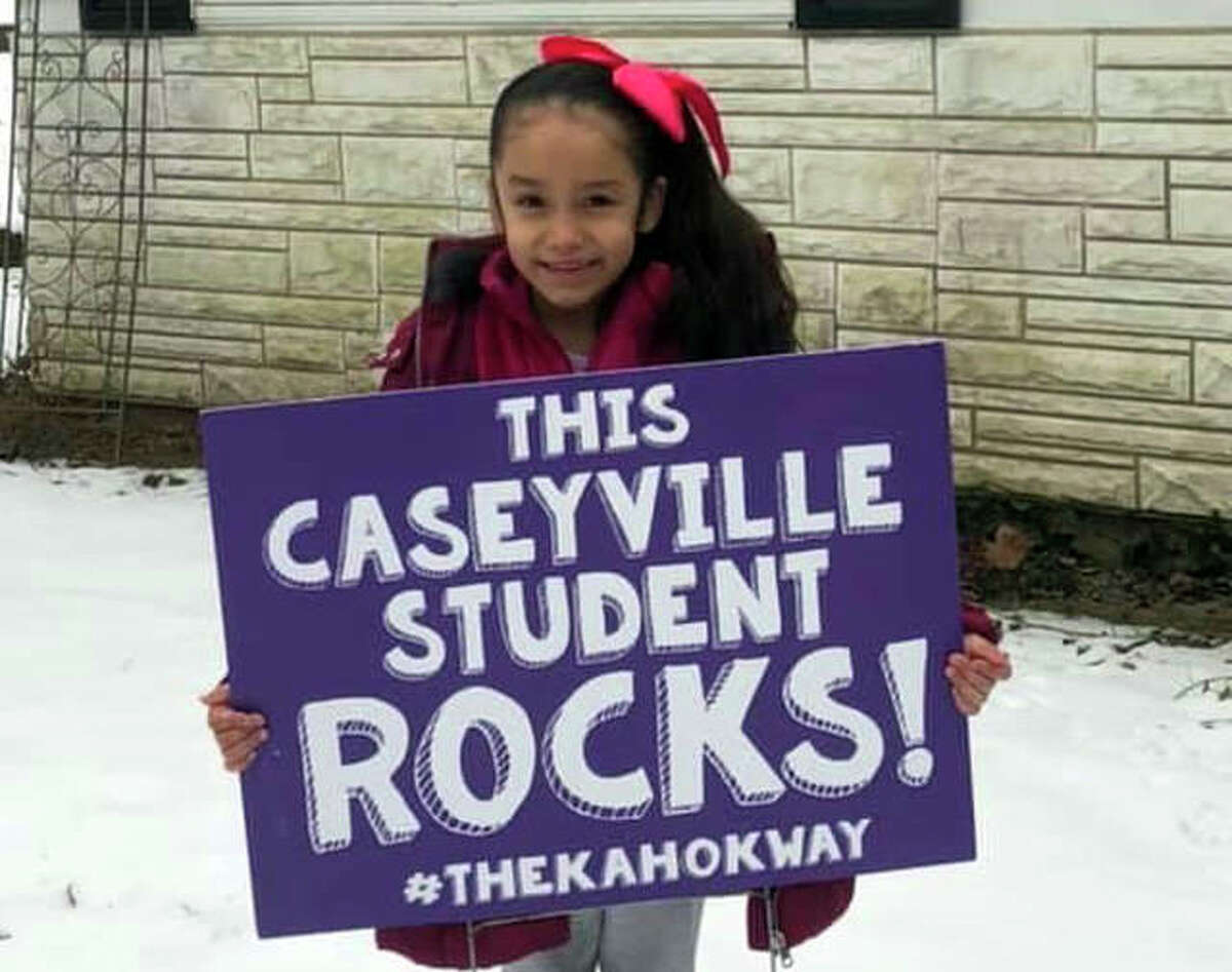 As part of its PBIS program, Collinsville elementary schools had these yard signs made and placed in students' front yards who model #thekahokway - being Respectful, Responsible and Safe while at school. Those expectations appear on matrices throughout the district.