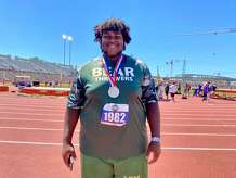 LC-M senior Kollyn Brown won a silver medal Thursday at the UIL state track and field championships in Austin.