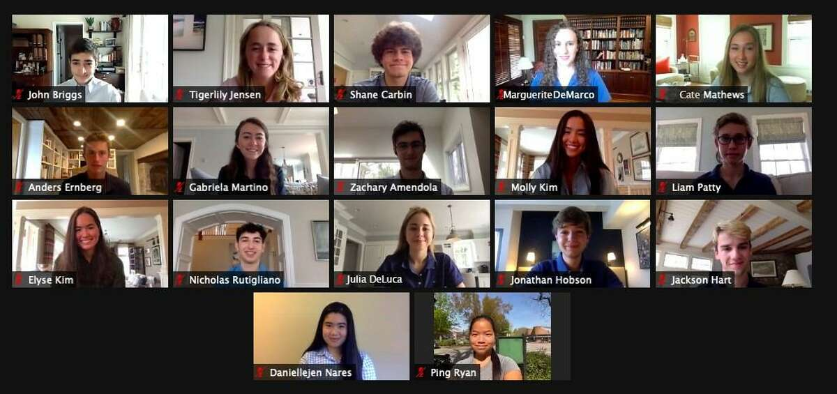 Seventeen St. Luke's School seniors were recently recognized at the school's in New Canaan's 2021 Cum Laude Society Induction Ceremony, held via Zoom April 10.