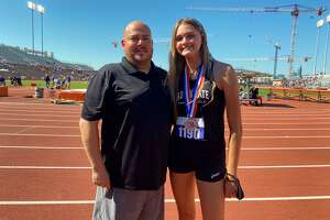 Vidor freshman Raegan Stephenson earned a silver medal in the Class 4A state high jump event on Thursday morning in Austin.