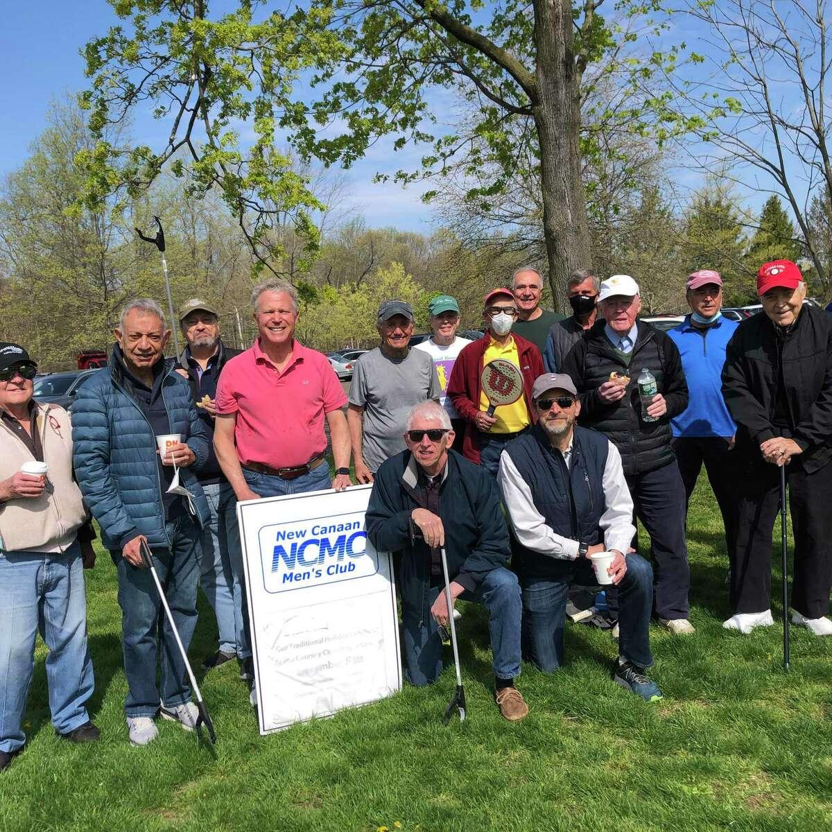Misters Clean: Members of the New Canaan Men's Club recently took part in last week's