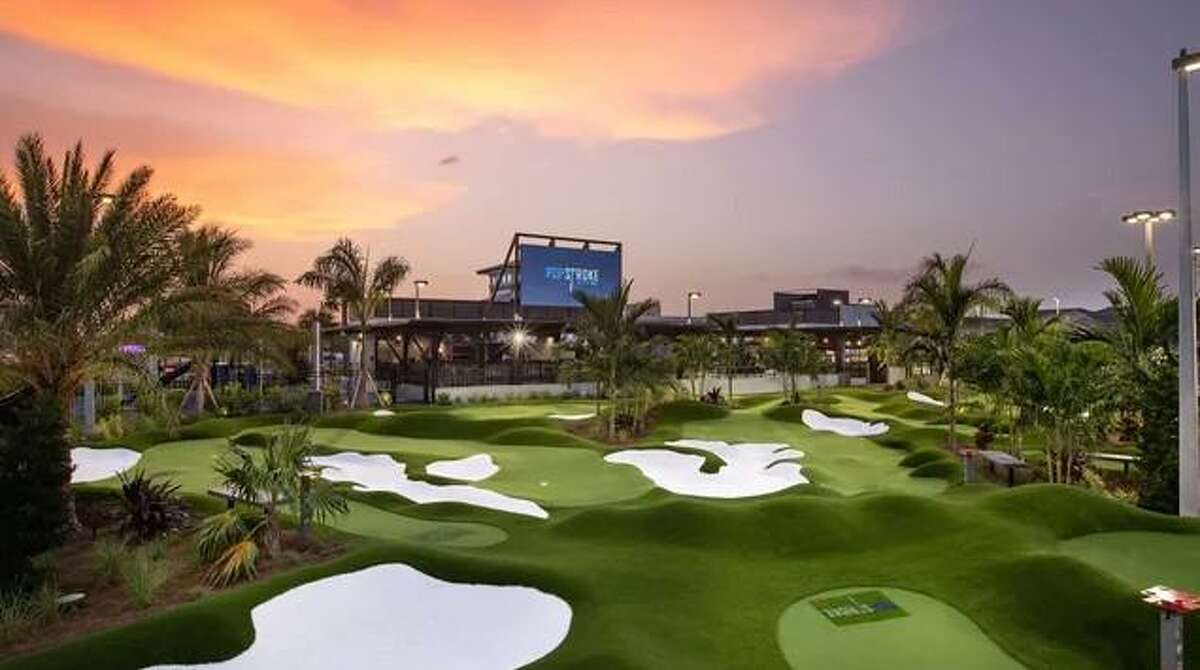 Tiger Woods' PopStroke Entertainment golf attraction will be opening in Katy in 2022. A facility in Fort Meyers, Fla. is shown.