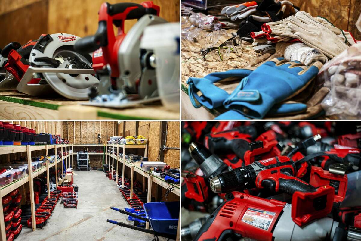 The Greater Michigan Construction Academy's tool library offers a variety of power and non-power tools that people can check out for home projects or large construction efforts. (Andrew Mullin/amullin@hearstnp.com)