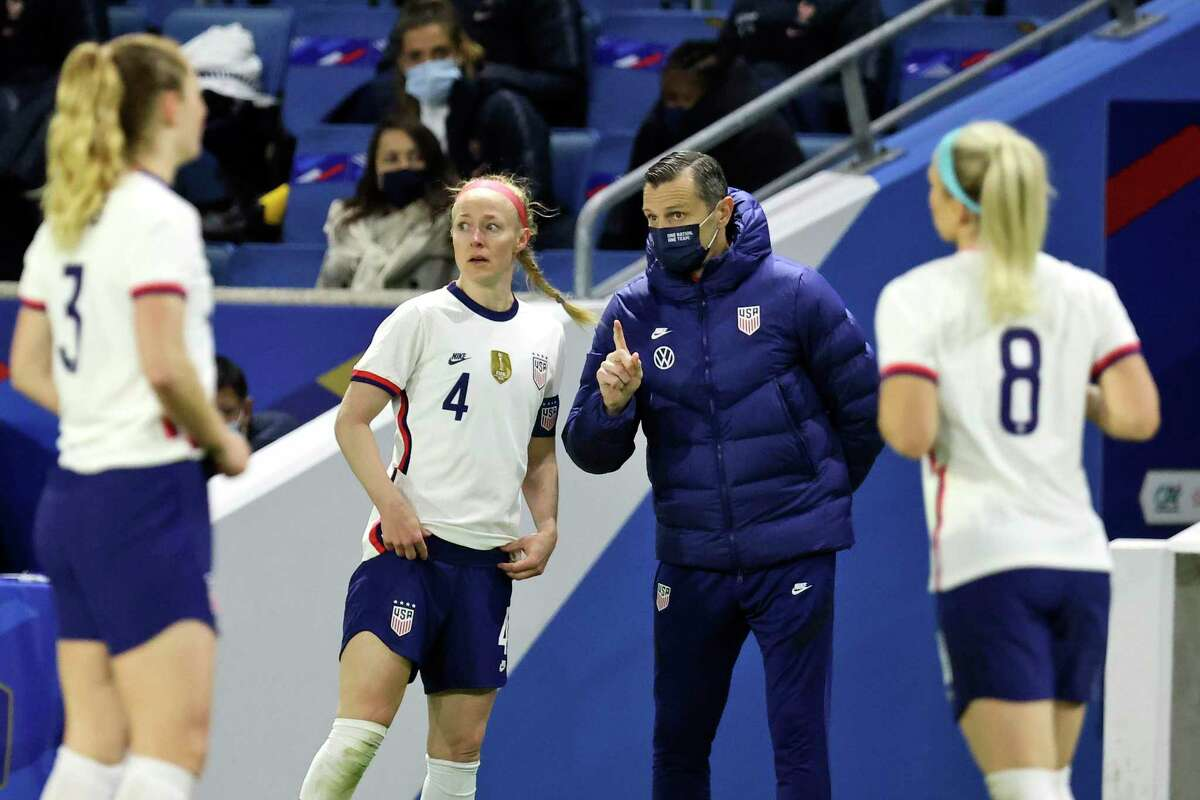 The U.S women's national team, coached by Vlatko Andonovski, will play twice in Houston this summer.