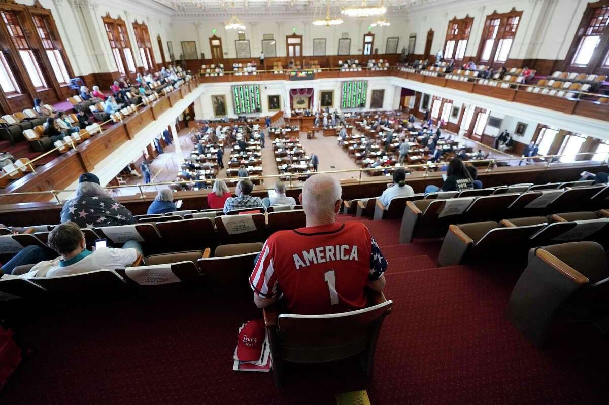 The House Chamber at the Texas Capitol in Austin, Texas, Thursday, May 6, 2021. (AP Photo/Eric Gay)
