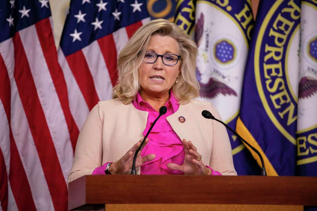 Rep. Liz Cheney, R-Wyo., is on the verge of losing her leadership position. (Samuel Corum/Getty Images/TNS)