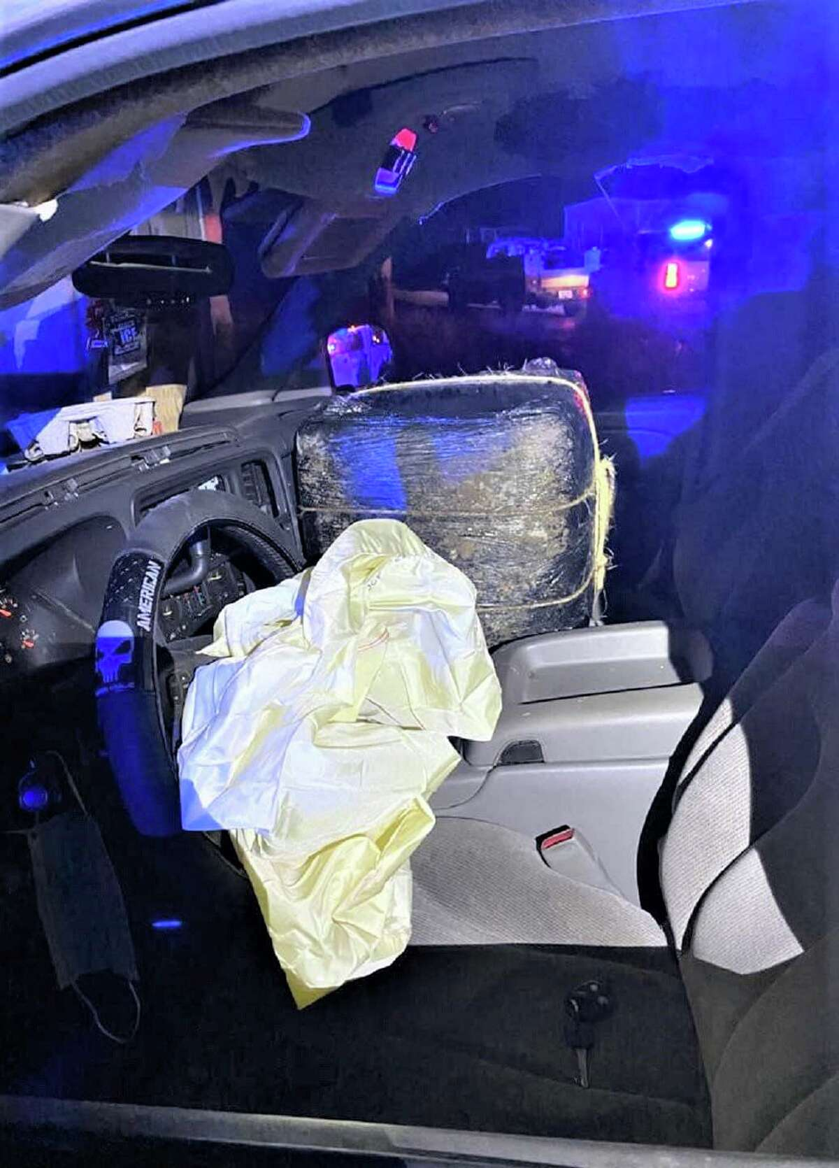 A marijuana smuggling attempt ended with a crash in west Laredo. U.S. Border Patrol agents seized approximately 400 pounds of marijuana.