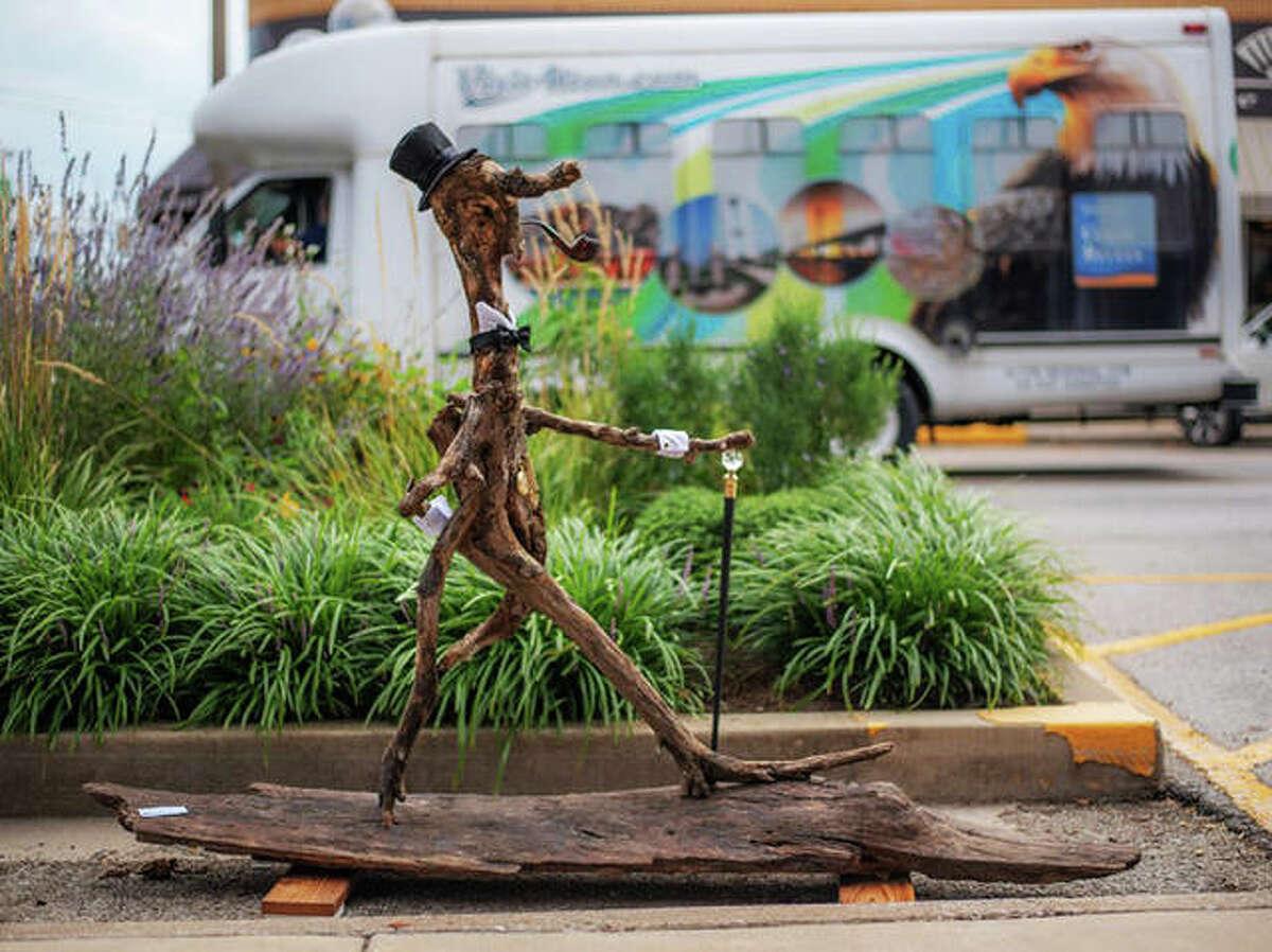"""""""Hideous Gentleman,"""" a sculpture by Alton artist Michael Snider."""